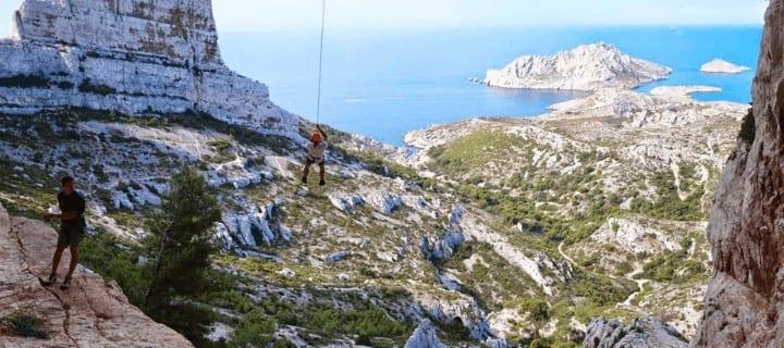 Team building Marseille saut pendulaire